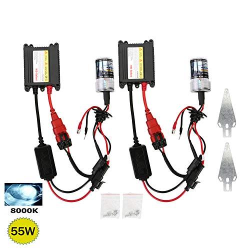 CICMOD H7 HID Lampe au Xénon, 55W 8000K H7 Auto HID Lampe à Xéon + HID Ballast