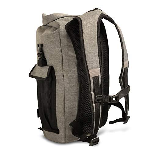 410owvx57 L - FE Active Mochila Impermeable Dry Bag - Bolsa Estanca 25L para Deportes Acuáticos, Escuela, Aire Libre, Bolsa de Gimnasio, Camping, Mochilero, Senderismo, Cano, Kayak, Surf | Diseñada en California