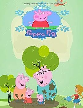 peppa pig  / Gran libro para colorear para niños de 2 -4 + 4-6 años  Spanish Edition