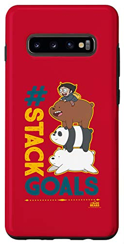Galaxy S10+ We Bare Bears Stack Goals Case