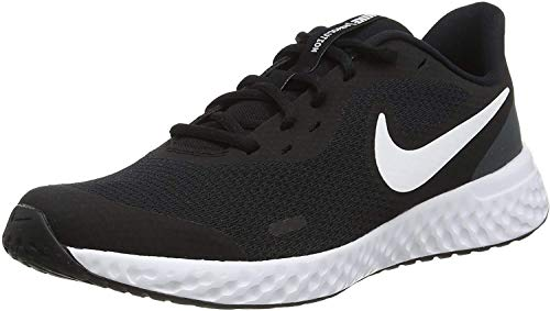 Nike Revolution 5, Unisex-Child, Black/White/Anthracite, 38 EU