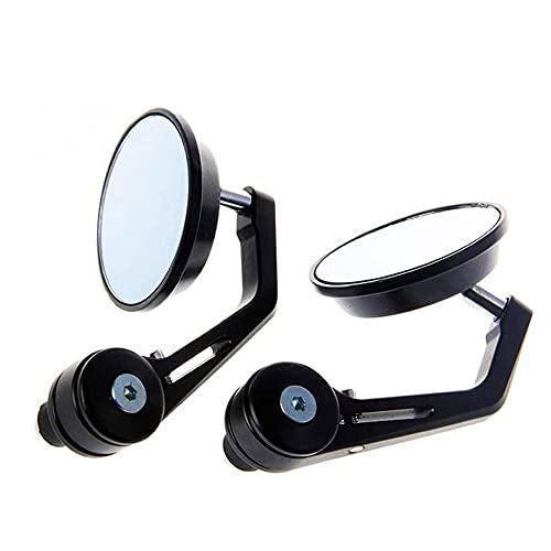 Espejos retrovisores de 22 mm para manillar de motocicleta aptos para SUZUKI gsf 600s gsx-r600 intruso gsx-s1000 inazuma 250 gsx-s750, etc, negro