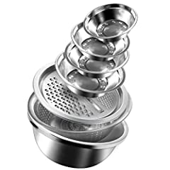 [Multi-functional Shredder is a Great Innovation in Kitchen Tools] 7in 1 Shredder, Drainer Basket and Mixing Bowl Nest Perfectly Together for Easy Storage.but Also Simplifies Washing, Draining and Mixing of Ingredients within a Small Workspace, with ...