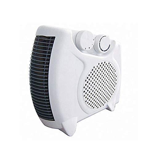 SZHWLKJ Chauffage d'appoint électrique Ventilateur Plat/Vertical avec 2 réglages de Chaleur et réglage d'air Frais