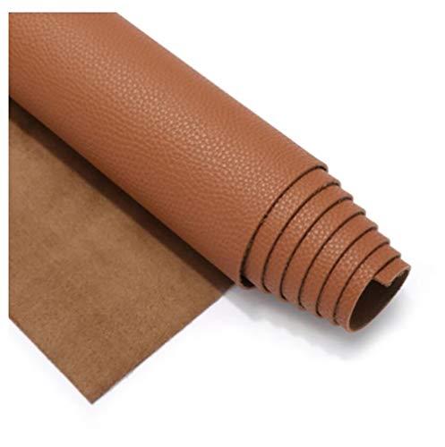 HANYU Cuir Multifonctionnel Tissu en Simili Cuir Souple,Cuir Tissu, pour ameublement, canapé, chaises, Sacs,1.38×0.5m(4.5ft×3.3ft) à Plusieurs Couleurs (Color : Camel)