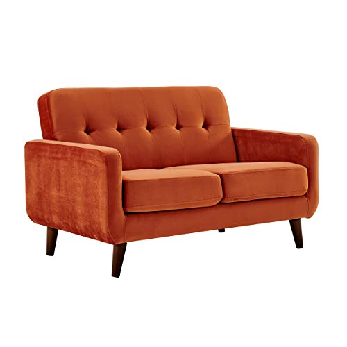 Cherry Tree Furniture Clarence Sofa (Burnt Orange Velvet, 2-Seater)