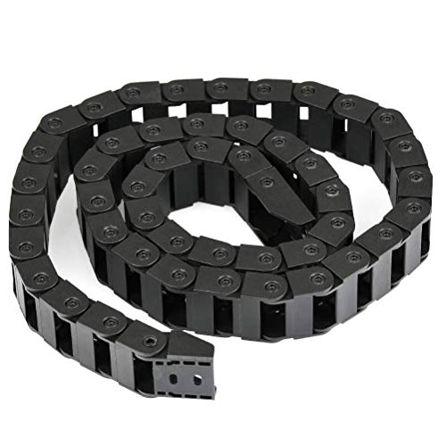 Wohlstand Catena di trascinamento,porta cavi in plastica,10 x 20mm 1M aperto su entrambi i lati Towline plastica portacavi Catena