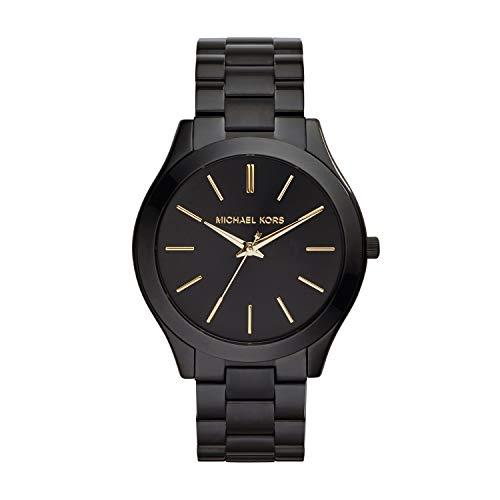 Michael Kors Women's Slim Runway Black Watch MK3221