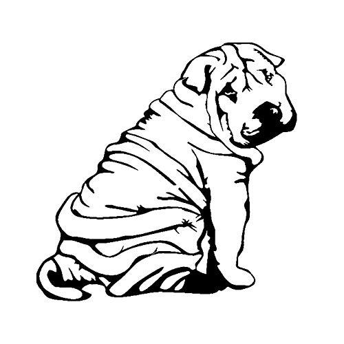 HENJIA Art Deco Perro Cachorro Vinilo Pegatina Coche calcomanía 18 CM x 17,9 CM