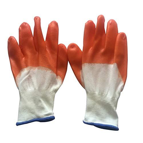 Yiph-Gloves Guanti da Lavoro di Sicurezza Guanti da Lavoro in Poliuretano/Nylon, 12 Paia (Medio 8 '')