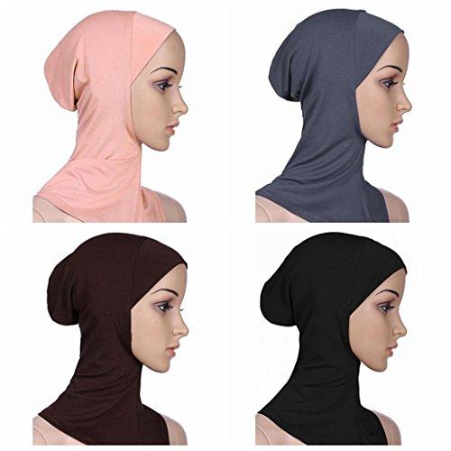 BaiTe BaiTe Islamisch Stil Kopftuch Hijab kopftücher Leicht Unter Schal Knochen Bonnet 4 pcs