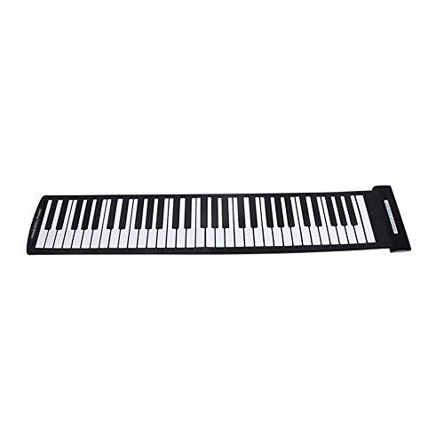 Kaxofang Piano portátil con 61 teclas, flexible, USB, Midi, teclado...