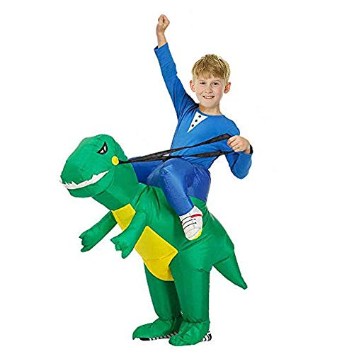 HUAMAO Déguisement Dinosaure Gonflable per Enfants, Air Fan Operated Marcher Fancy Dress Halloween Party Gonflable Costume d'animal (S)