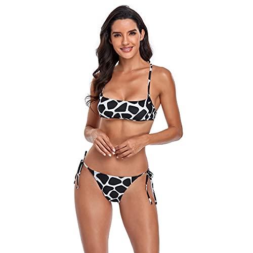 Conjuntos de Bikinis para Mujer Tirantes Ajustables Dos Piezas Tops de Bikini Bañador con...