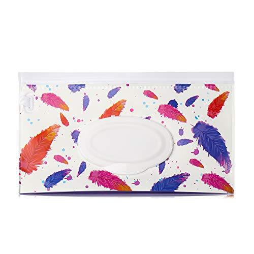 ETGUN Kosmetiktaschentuch-Box, 1 Stück, mit Schnappverschluss, tragbare Tragetasche, Kosmetiktasche, Feuchttücher, Kinderwagen-Zubehör (3)
