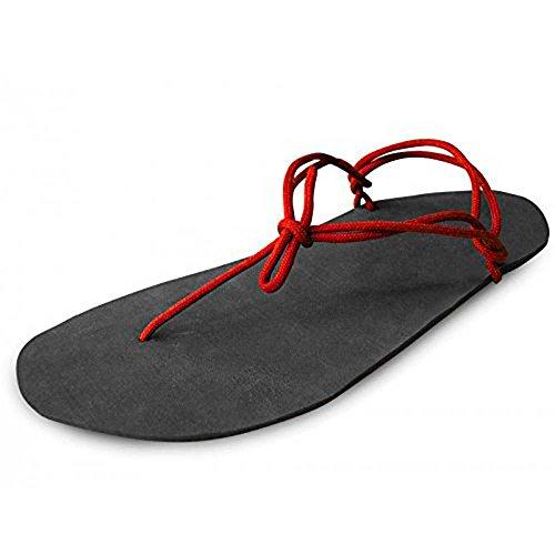 Vibram - Kit Minimalistische Sandalen Badeschuhe barfuß Laufen Trail (Dunas 5 mm - Rote Spitze)