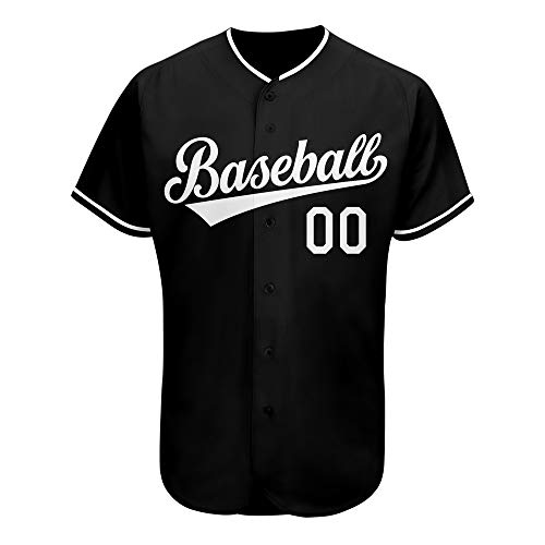 Custom Men's Baseball Team Jersey Personalized Full Button Down Shirts Uniforms Stitched Name&Numbers