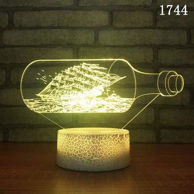 3D Night Light Navigation Sailboat Pirate Ship Aircraft Carrier Battleship Steamship Led Kids Gift Table Lamp Decoration