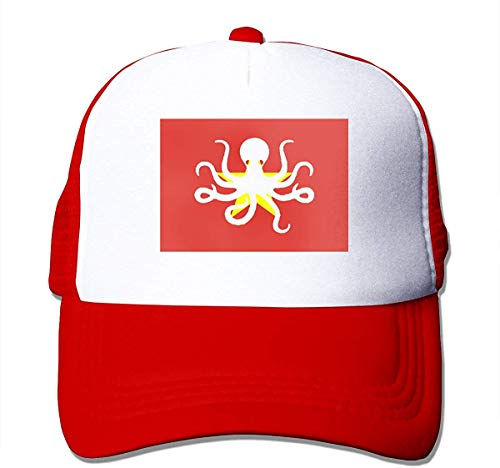 Octopus Vietnam Flag Adjustable Mesh Trucker Baseball Cap Men/Women Hip-hop Hat Cool4954