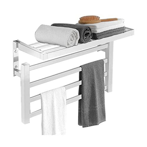 Radiador toallero electrico 570 mm ancho, Toalleros electricos bajo Consumo de pared 55W Calentador Secador de Toallas Secado Potente para Baño Cocina Secador Toa(Size:Right wiring -110V,Color:blanco)