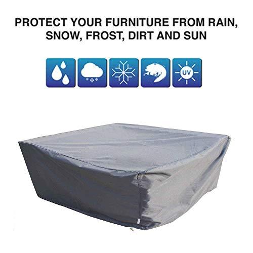 NINGWXQ Outdoor meubilair van het tuinterras Cover Waterproof Furniture Set Cover winddicht Dust-proof Do Not Fade, zwart, grijs, 29 Maten (Color : Gray, Size : 2x1x2m)