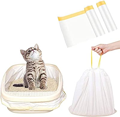 Cat Litter Box Liners, Durable with Drawstring | Easy Clean Up | Thicken Pet Jumbo Litter Box Liners (14 Pack?