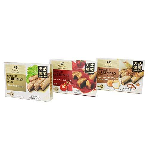 食の達人森源商店 オイルサーディン3種お試しセット 100g×3缶 食べ比べ