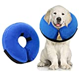 Best Dog Cones - AhlsenL Inflatable Comfy Cone for Dogs Cats Protective Review