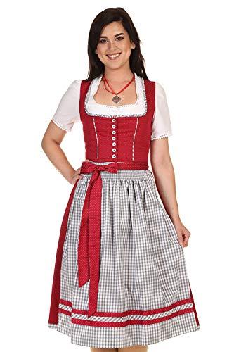 Turi Landhausmode Damen Dirndl Midi 65-70cm D821070 Heidi Rocklänge 70cm