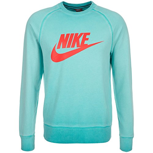 Nike AW77 LT-WT Caramote TGS Solstice-Sweat-Shirt-Homme XL Verde (Rio Teal/Lt Crimson)