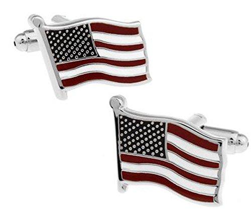 Gudeke Amerikanische Flagge Manschettenknöpfe Französisch Hemd-Manschettenknöpfe
