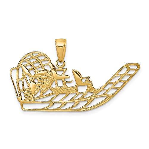 Black Bow Jewellery Company: öffnen, luftboot, Anhänger, in 14Karat Gelb Gold