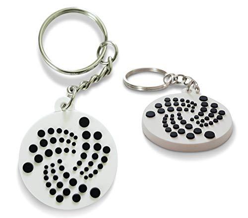 IOTA Schlüsselanhänger im 3D-Design | Einzeln & im Set | Ø 4cm (2er Set)