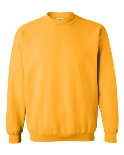 Gildan Men's Heavy Blend Crewneck Sweatshirt - Large - Gold