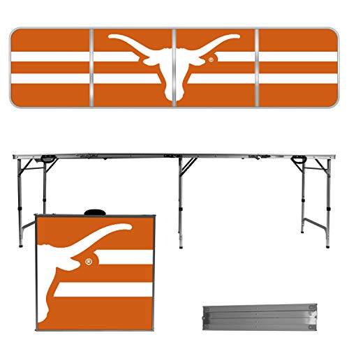 Victory Tailgate Texas Longhorns 8 Foot Portable Folding Tailgate Table Striped Version