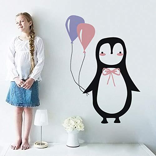 ZYLBL Pegatinas de pared para niños pequeños, decoración de fondo, 28 x 40 cm, diseño de pingüino, 2 unidades