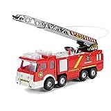 BiaBai Juguete de bombero de simulación para niños, camión de bomberos de Júpiter, coche de juguete eléctrico universal, camión de bomberos ligero, puede rociar agua