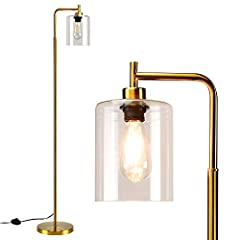 ❤ 【Reliable Material】This metal standing floor lamp is made of high-quality metal and has undergone high-temperature processing, which is durable and does not fade.Equipped with glass lampshade, good light transmission, even light distribution, bette...