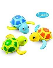 Zabawka kąpielowa dla niemowląt, do kąpieli, pływania, wanny, basenu, zabawka zegarowa, żółw, basen, zabawka dla małych dzieci, chłopców i dziewczynek (3 sztuki, 3 kolory)