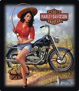Harley-Davidson® Nice Catch Babe Embossed Tin Sign