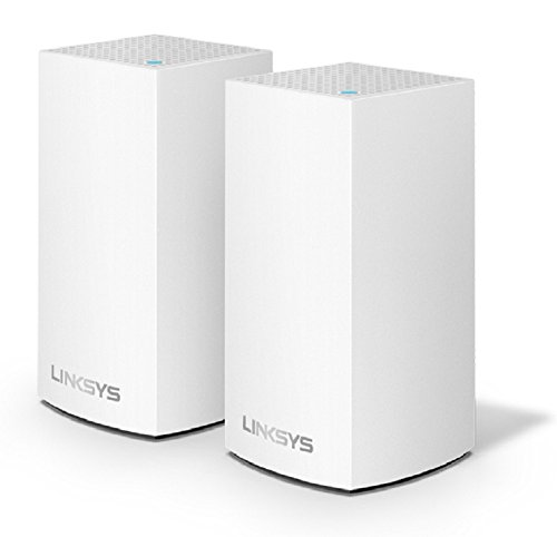 Linksys Velop Home Mesh WIFI System – WIFI Router/Wifi Extender for Whole-Home Mesh Network (2-pack, White)