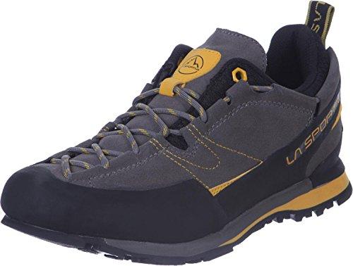 La Sportiva Boulder X, Zapatillas de Senderismo Mujer, Multicolor (Grey/Yellow 000), 41.5...