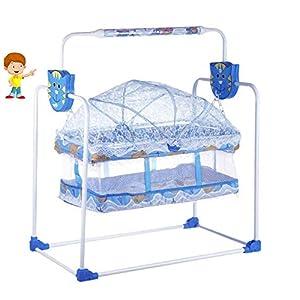Flipzon New Born Baby Swing Cradle with Mosquito Net (Blue)… 11 410p3sdA 2L. SS300