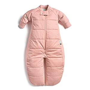 ergoPouch 3.5 TOG Sleep Suit Bag 100% Organic Cotton Filling with Cotton Sleeves and fold Over Mitts. 2 in 1 Wearable Blanket Sleeping Bag converts to Sleep Suit with Legs (Berries, 8-24 Months)
