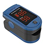 Santamedical SM-150BL Fingertip Pulse Oximeter Oximetry Blood Oxygen Saturation Monitor with Carrying Case, Batteries and Lanyard