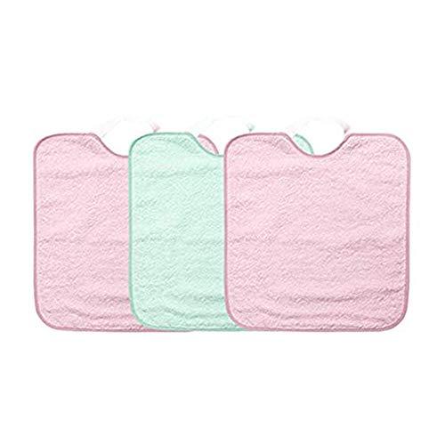 Ti TIN - Pack 3 Baberos impermeables para Bebé Niña con Cierre con Goma 90% Algodón - 10% Poliéster | Lote de 3 Baberos para Bebés de Más de 1 Año