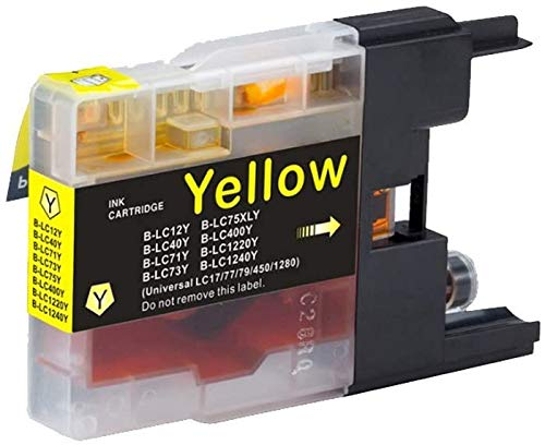 ESTON LC75 Black Color Ink Compatible Replacements for Brother LC-71 LC-75 MFC-J280W MFC-J425W MFC-J430W MFC-J435W LC75 (4Pack-1Black,1Cyan,1Magenta,1Yellow) Photo #3