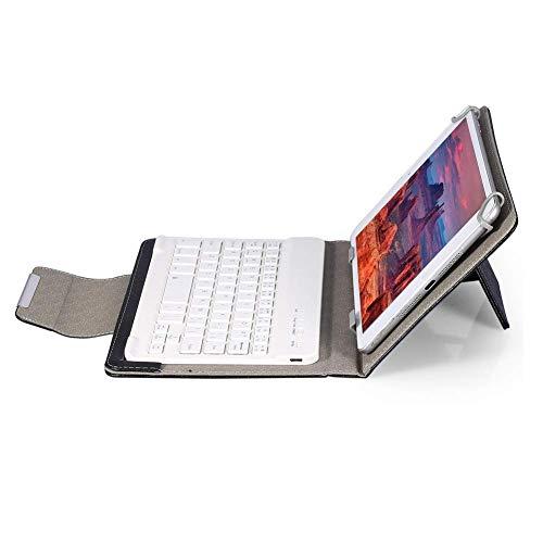 Tastatur Hülle Keybord Hülle,VBESTLIFEHD 10 Tablet Tasche Cover Hülle PU Leder Schutzhülle mit drahtloser,Bluetooth Tastatur & Standfuß für Android/Windows/Tablet