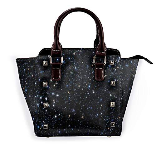 BROWCIN Sterne durch Teleskop gesehen Abnehmbare mode trend damen handtasche umhängetasche umhängetasche