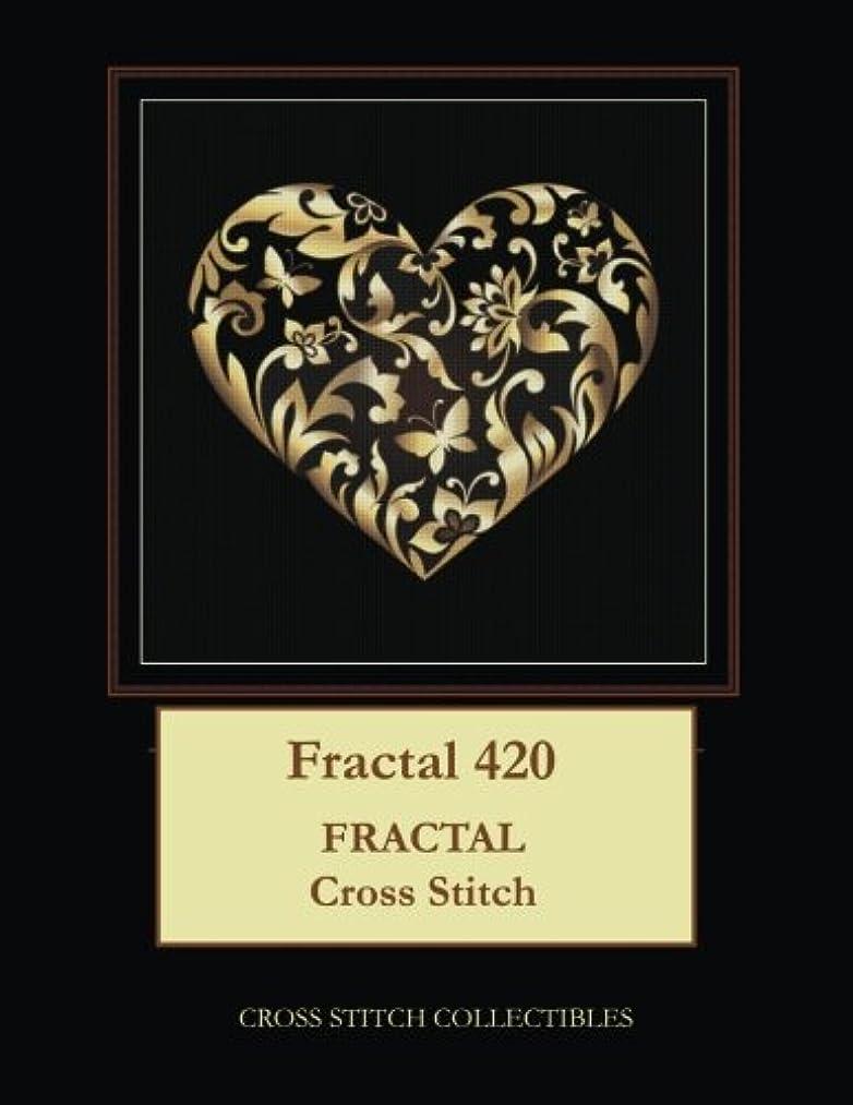 Fractal 420: Fractal cross stitch pattern